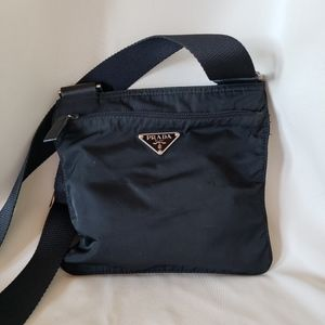 AUTH Prada Vela Small Nylon Crossbody Bag